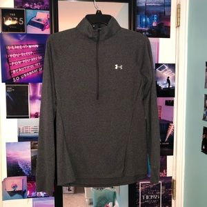 Gray quarter zip